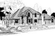 Traditional Style House Plan - 4 Beds 3.5 Baths 4048 Sq/Ft Plan #75-153 Exterior - Front Elevation