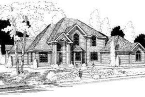 Traditional Exterior - Front Elevation Plan #75-153