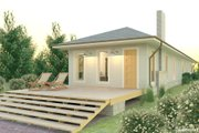 Bungalow Style House Plan - 2 Beds 2 Baths 1622 Sq/Ft Plan #926-2 Exterior - Rear Elevation