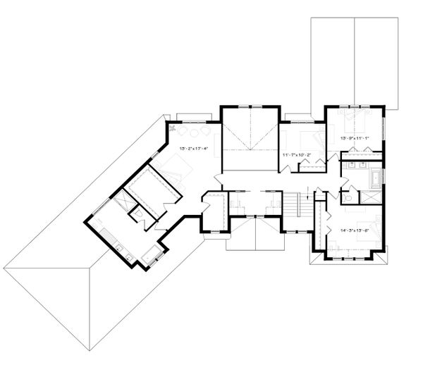 Traditional Floor Plan - Upper Floor Plan Plan #23-2311