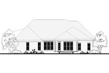 Architectural House Design - Ranch Exterior - Rear Elevation Plan #430-169