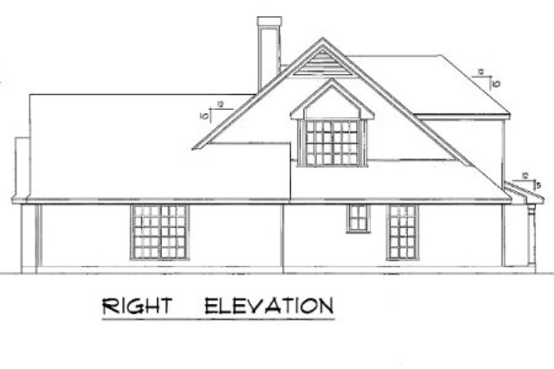 Country Exterior - Other Elevation Plan #40-386 - Houseplans.com