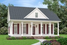 Home Plan - Cottage Exterior - Front Elevation Plan #45-581