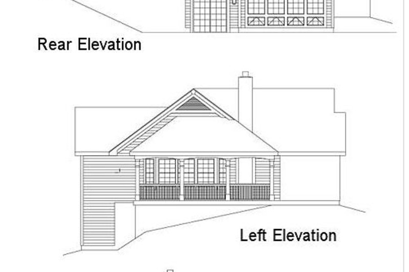 Traditional Exterior - Other Elevation Plan #57-185 - Houseplans.com