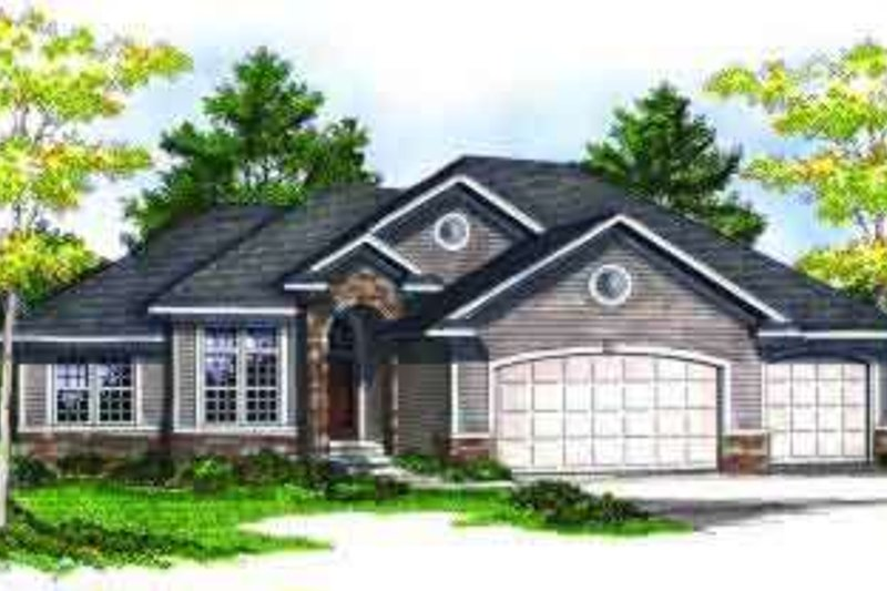 Ranch Exterior - Front Elevation Plan #70-688 - Houseplans.com