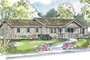 Ranch Style House Plan - 3 Beds 2 Baths 1356 Sq/Ft Plan #124-520 Exterior - Front Elevation