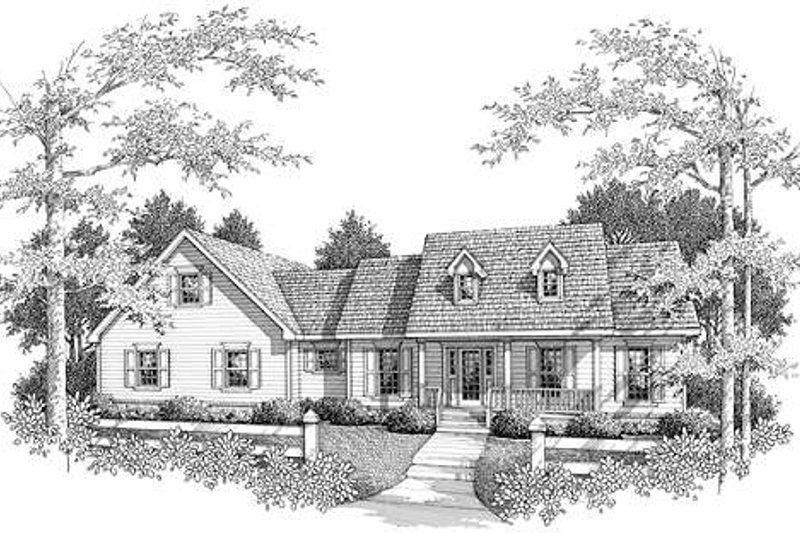 Country Exterior - Front Elevation Plan #14-234