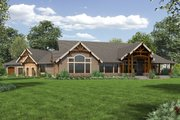 Cottage Style House Plan - 4 Beds 3.5 Baths 4420 Sq/Ft Plan #132-568 Exterior - Rear Elevation