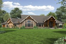 Cottage Exterior - Rear Elevation Plan #132-568