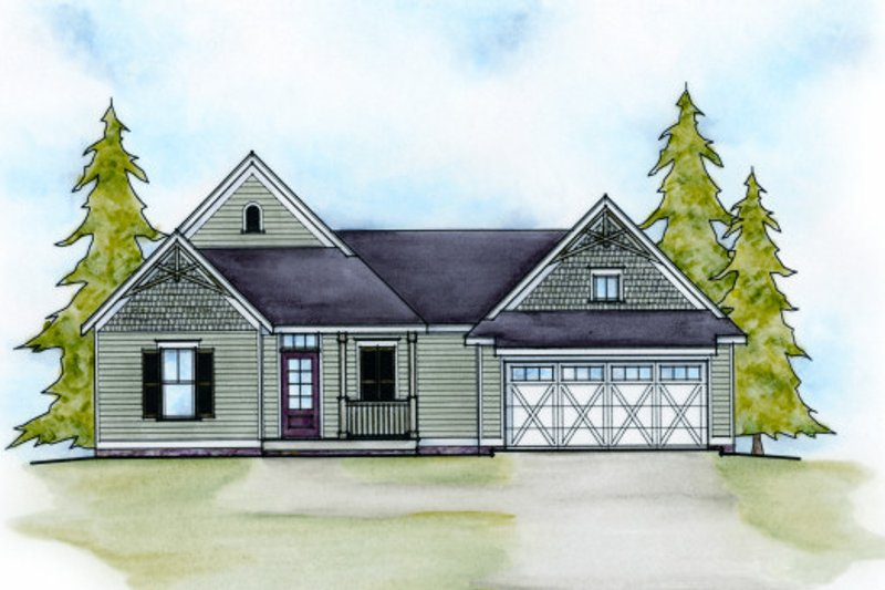 Traditional Exterior - Front Elevation Plan #20-2074