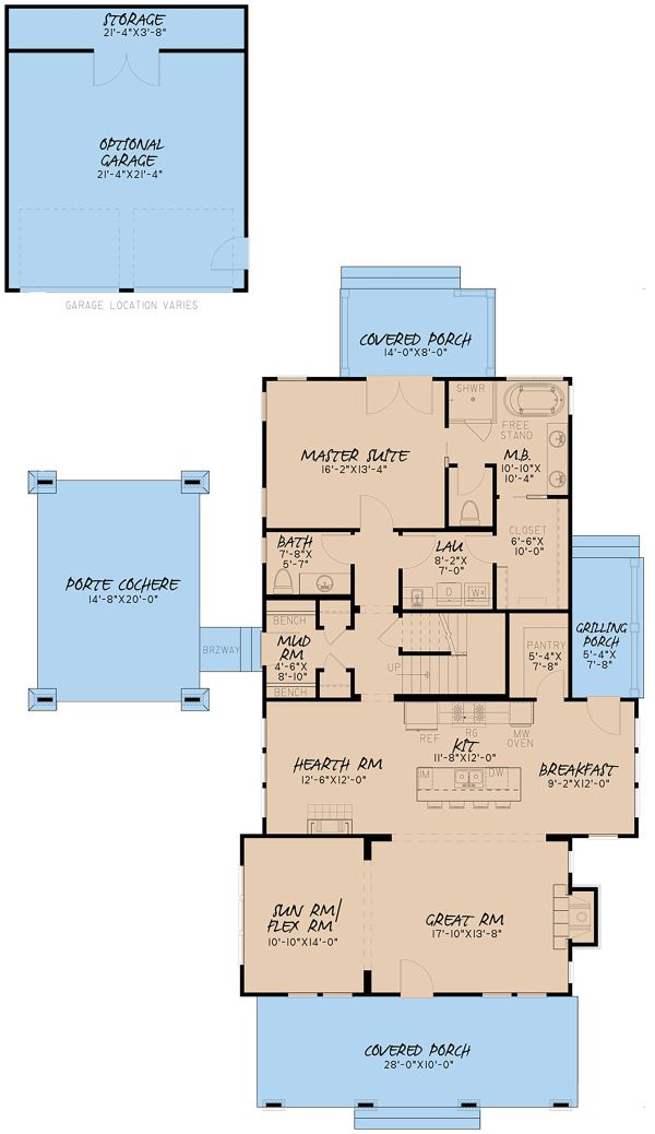 Country Floor Plan - Main Floor Plan Plan #923-149
