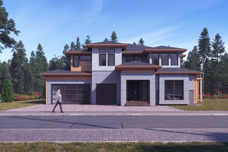 Modern Exterior - Front Elevation Plan #1066-11