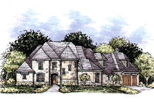 European Exterior - Front Elevation Plan #141-333
