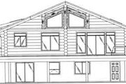Traditional Style House Plan - 2 Beds 3 Baths 2875 Sq/Ft Plan #117-317 Exterior - Rear Elevation