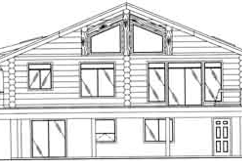 Traditional Exterior - Rear Elevation Plan #117-317 - Houseplans.com