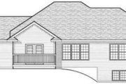 Traditional Style House Plan - 3 Beds 1.5 Baths 1636 Sq/Ft Plan #70-597 Exterior - Rear Elevation