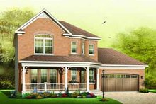 Home Plan - Traditional Exterior - Front Elevation Plan #23-594