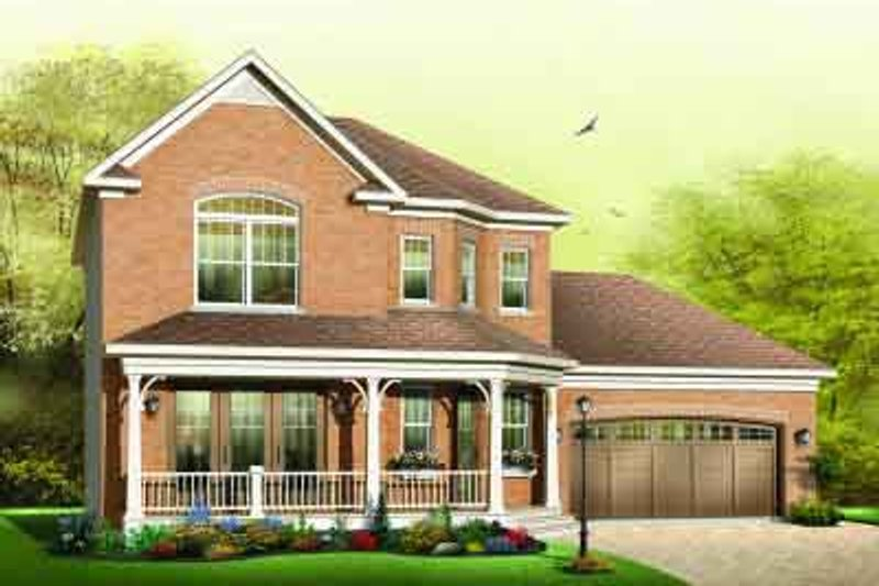 Traditional Exterior - Front Elevation Plan #23-594 - Houseplans.com