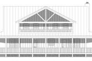 Country Style House Plan - 3 Beds 3 Baths 2662 Sq/Ft Plan #932-168 Exterior - Rear Elevation