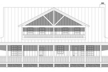 Country Exterior - Rear Elevation Plan #932-168