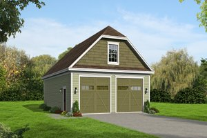 Country Exterior - Front Elevation Plan #932-247
