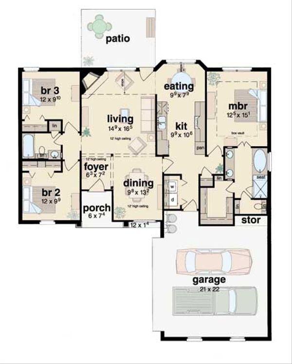 Traditional Floor Plan - Main Floor Plan Plan #36-130