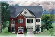 Traditional Style House Plan - 3 Beds 2.5 Baths 3230 Sq/Ft Plan #26-215 Exterior - Front Elevation