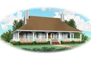 Country Style House Plan - 3 Beds 2.5 Baths 2275 Sq/Ft Plan #81-13663 Exterior - Front Elevation