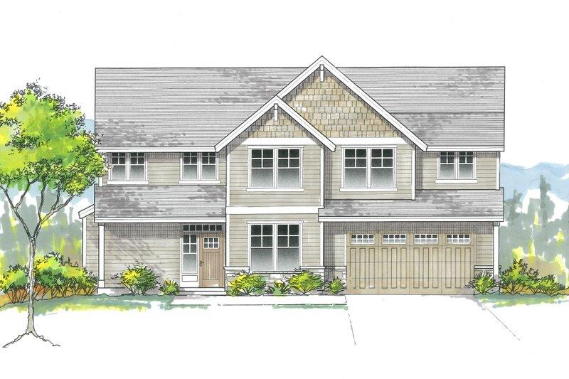 Craftsman Exterior - Front Elevation Plan #53-627