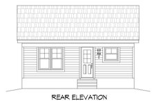 House Plan Design - Traditional Exterior - Rear Elevation Plan #932-101
