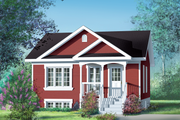 Cottage Style House Plan - 2 Beds 1 Baths 780 Sq/Ft Plan #25-138