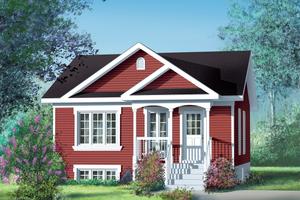 Cottage Exterior - Front Elevation Plan #25-138