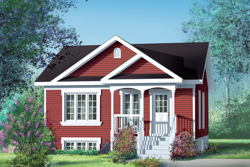 Cottage Style House Plan - 2 Beds 1 Baths 780 Sq/Ft Plan #25-138 Exterior - Front Elevation