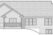 Ranch Style House Plan - 3 Beds 2.5 Baths 1922 Sq/Ft Plan #70-596 Exterior - Rear Elevation