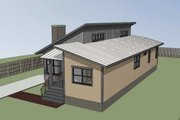Modern Style House Plan - 3 Beds 2 Baths 1350 Sq/Ft Plan #79-292 Exterior - Other Elevation
