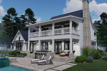 Dream House Plan - Southern Exterior - Rear Elevation Plan #120-260
