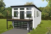 Contemporary Style House Plan - 3 Beds 2 Baths 1405 Sq/Ft Plan #932-433