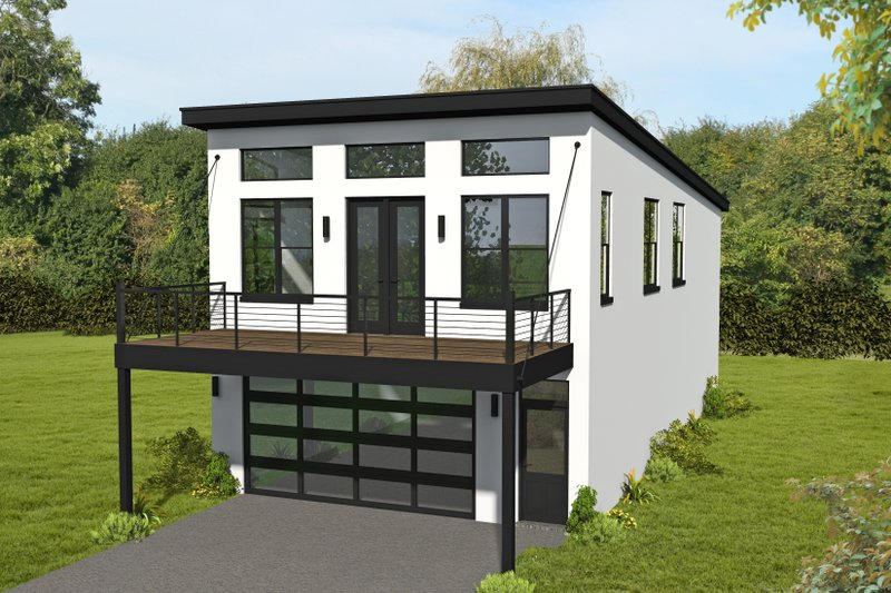 Architectural House Design - Contemporary Exterior - Front Elevation Plan #932-433