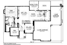 Craftsman Floor Plan - Main Floor Plan Plan #70-1252
