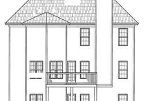 European Exterior - Rear Elevation Plan #119-278