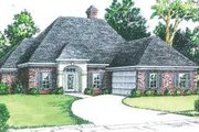 European Style House Plan - 3 Beds 2 Baths 2000 Sq/Ft Plan #15-152 Exterior - Front Elevation