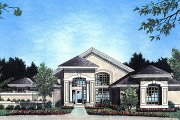Mediterranean Style House Plan - 4 Beds 3 Baths 2376 Sq/Ft Plan #417-252 Exterior - Front Elevation
