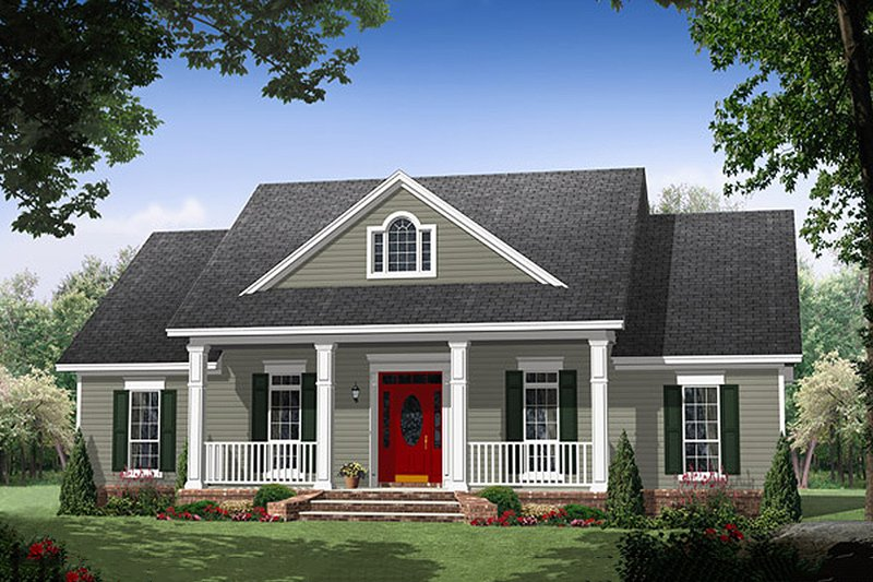 Dream House Plan - Country style home, Traditional design, elevation