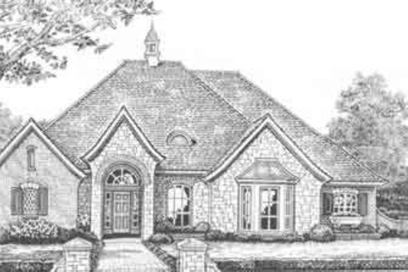 European Style House Plan - 4 Beds 2.5 Baths 2360 Sq/Ft Plan #310-365 Exterior - Front Elevation