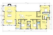 Ranch Style House Plan - 4 Beds 4.5 Baths 3402 Sq/Ft Plan #888-18 Floor Plan - Main Floor Plan
