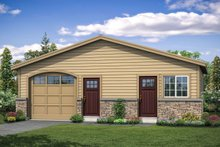 House Plan Design - Traditional Exterior - Front Elevation Plan #124-1099