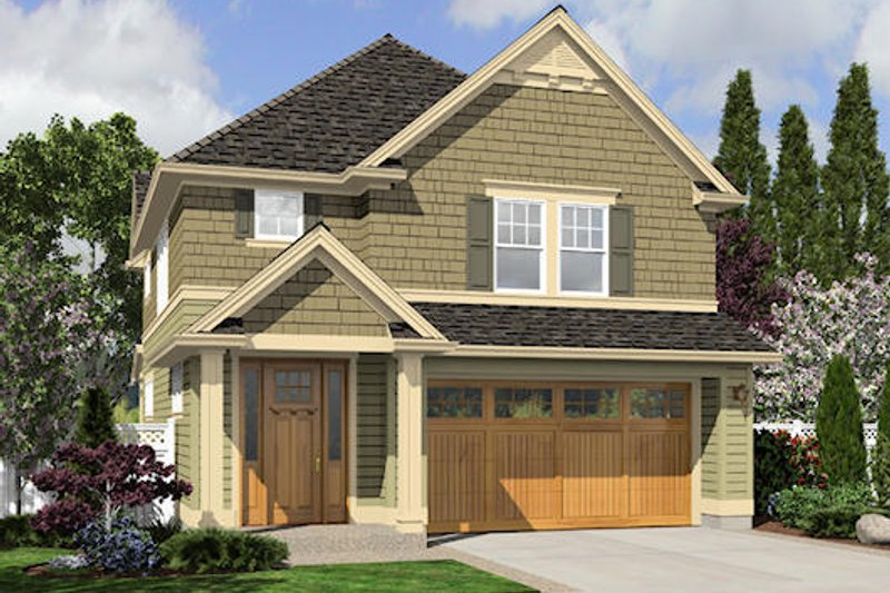 Craftsman Style House Plan - 4 Beds 2.5 Baths 1824 Sq/Ft Plan #48-498 Exterior - Front Elevation
