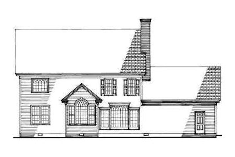 Southern Exterior - Rear Elevation Plan #137-203 - Houseplans.com