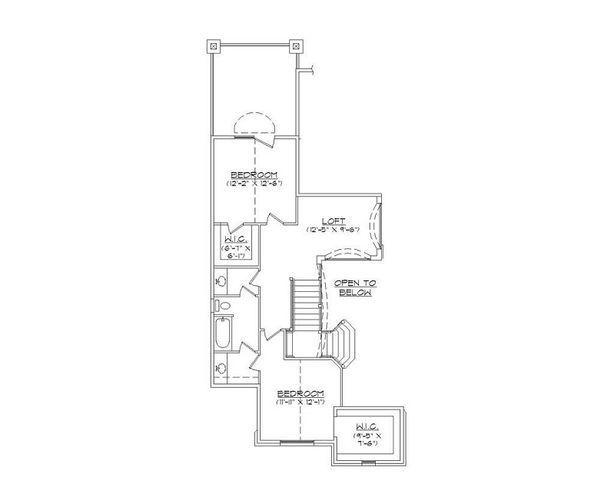 European Floor Plan - Upper Floor Plan Plan #5-401