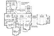 European Style House Plan - 5 Beds 4.5 Baths 4654 Sq/Ft Plan #45-379 Floor Plan - Main Floor Plan